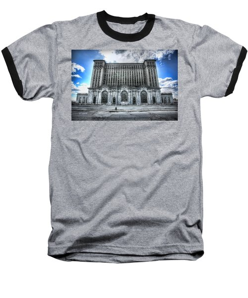 Detroit's Abandoned Michigan Central Train Station Depot Baseball T-Shirt by Gordon Dean II