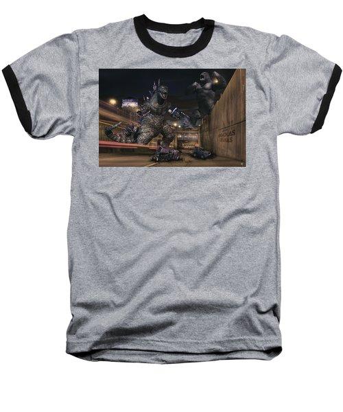 Detroits Zoo Baseball T-Shirt by Nicholas  Grunas