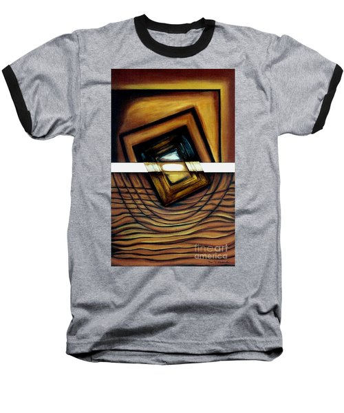 Baseball T-Shirt featuring the painting Deversity View by Fei A