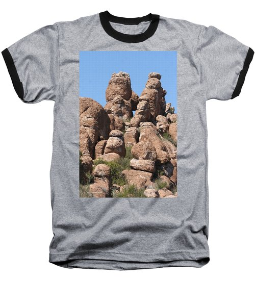 Baseball T-Shirt featuring the photograph Devils Canyon Wall by Tom Janca