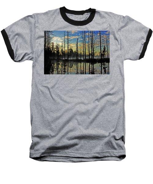 Devils Den In The Pine Barrens Baseball T-Shirt