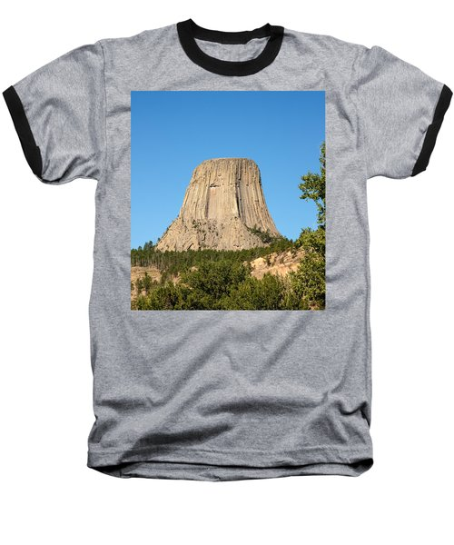 Baseball T-Shirt featuring the photograph Devils Tower by John M Bailey