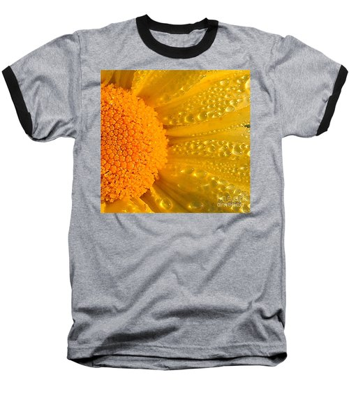 Baseball T-Shirt featuring the photograph Dew Drops On Daisy by Terri Gostola