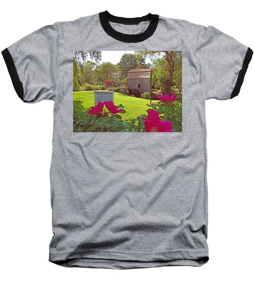 Dexters Grist Mill Two Baseball T-Shirt by Barbara McDevitt