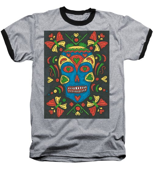Dia De Los Muertos Baseball T-Shirt by Susie Weber