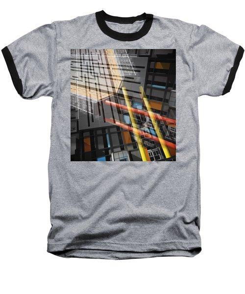 Diagonal Mondrian Baseball T-Shirt