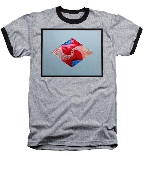 Baseball T-Shirt featuring the mixed media Diamond Design by Ron Davidson