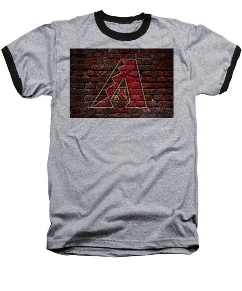 Diamondbacks Baseball Graffiti On Brick  Baseball T-Shirt by Movie Poster Prints