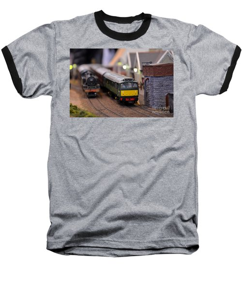 Diesel Electric Model Train Railway Engine Baseball T-Shirt