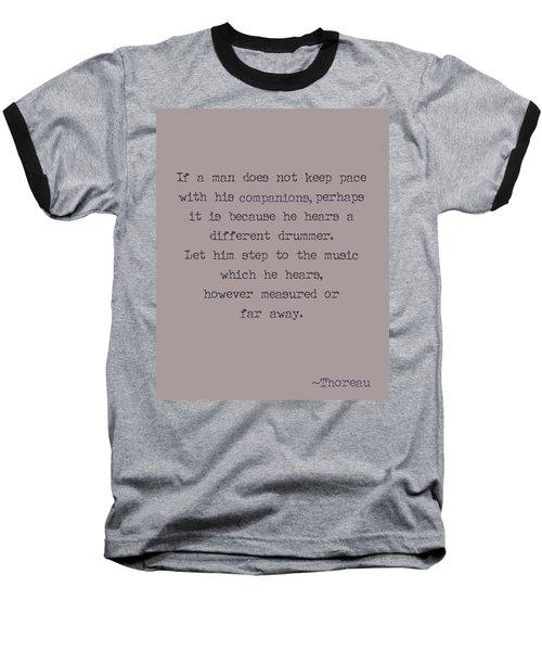 Different Drummer Baseball T-Shirt