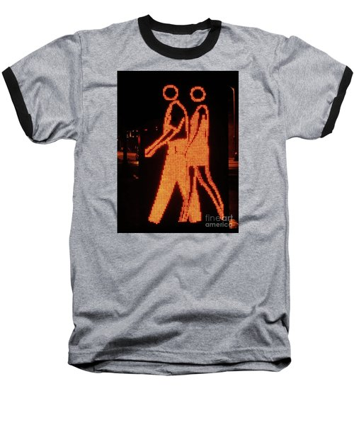 Digital Couple At City Garden Baseball T-Shirt