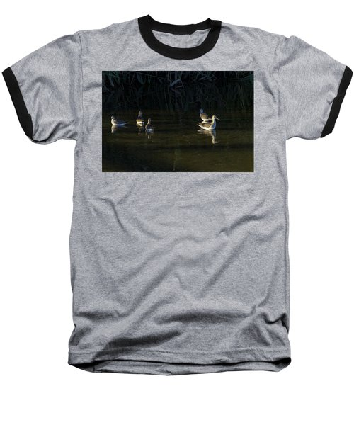Digital Oil Of Sandpipers Baseball T-Shirt