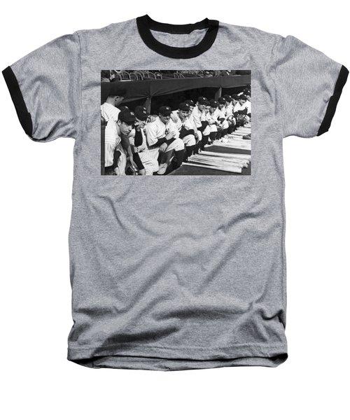 Dimaggio In Yankee Dugout Baseball T-Shirt