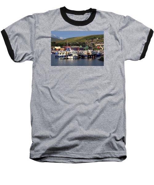 Dingle Harbour County Kerry Ireland Baseball T-Shirt by Aidan Moran