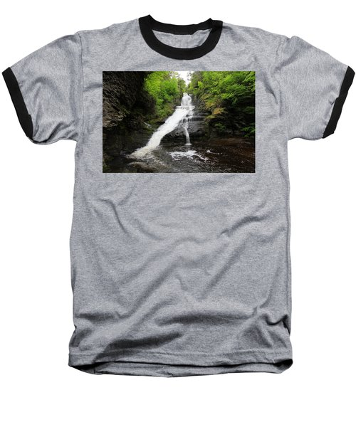 Baseball T-Shirt featuring the photograph Dingmans Falls by Trina  Ansel