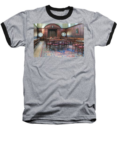 Baseball T-Shirt featuring the photograph Dining Hall Wren Building by Jerry Gammon