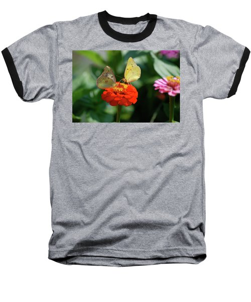 Baseball T-Shirt featuring the photograph Dinner Table For Two Butterflies by Thomas Woolworth