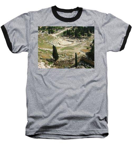 Dionysus Amphitheater Baseball T-Shirt by Ellen Henneke