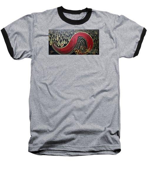 Dipped In Gold Diptich Baseball T-Shirt by Jolanta Anna Karolska
