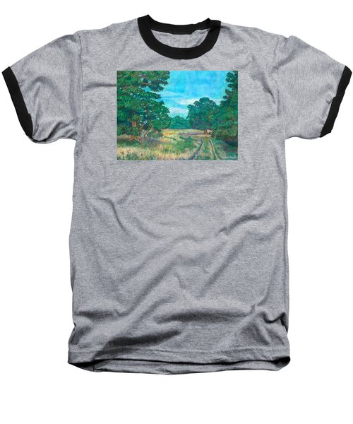 Baseball T-Shirt featuring the painting Dirt Road Near Rock Castle Gorge by Kendall Kessler