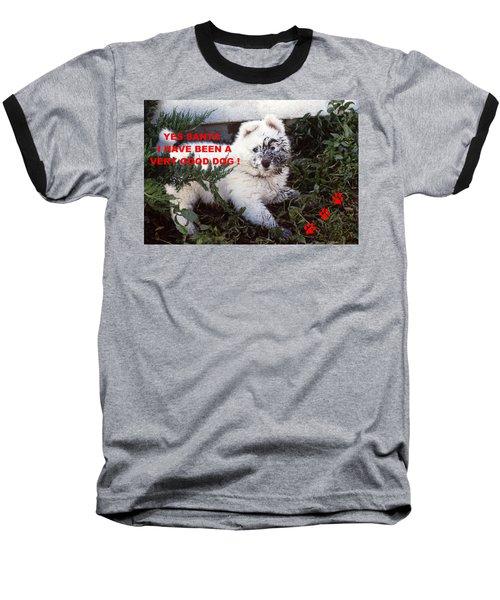 Dirty Dog Christmas Card Baseball T-Shirt