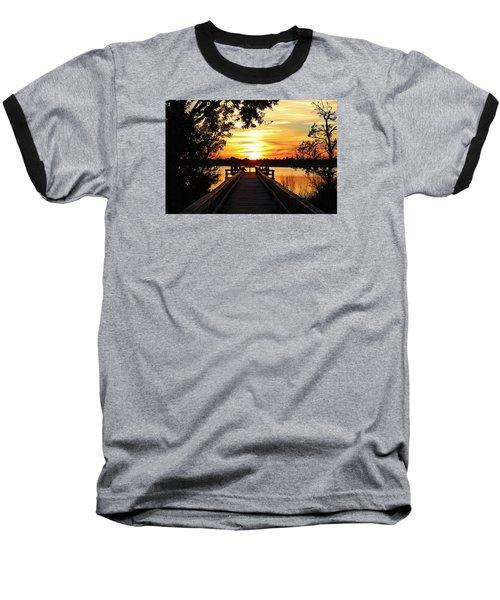 Disappearing Sun  Baseball T-Shirt by Cynthia Guinn