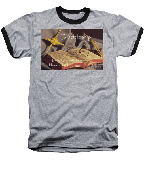 Discipleship Baseball T-Shirt by Sharon Elliott