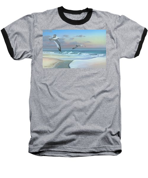 Baseball T-Shirt featuring the painting Dissolving Time by Mike Brown