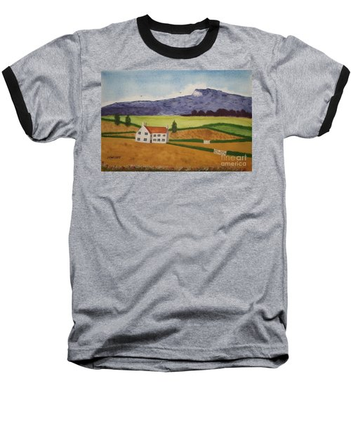 Baseball T-Shirt featuring the painting Distant Hills by John Williams