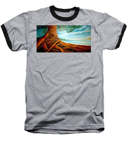 Baseball T-Shirt featuring the painting Distant Shores Rejoice by Meaghan Troup