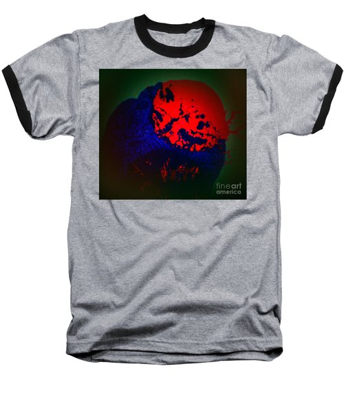 Baseball T-Shirt featuring the painting Divide by Jacqueline McReynolds