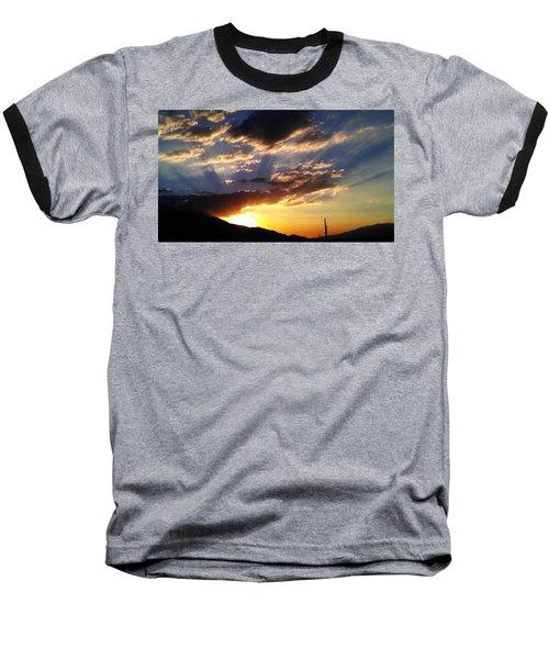 Divine Sunset Baseball T-Shirt by Chris Tarpening