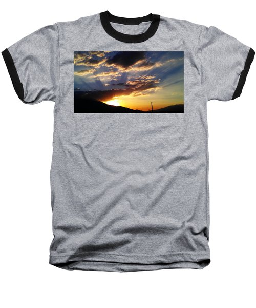 Divine Sunset Baseball T-Shirt