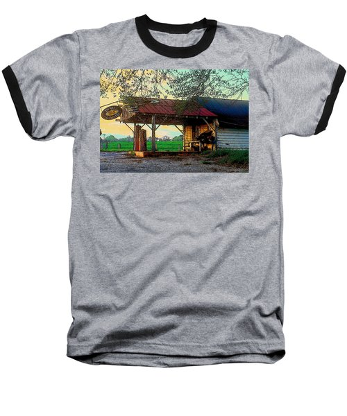 Baseball T-Shirt featuring the photograph Dixie Oil And Gasoline by Rodney Lee Williams