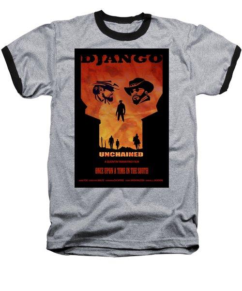 Django Unchained Alternative Poster Baseball T-Shirt