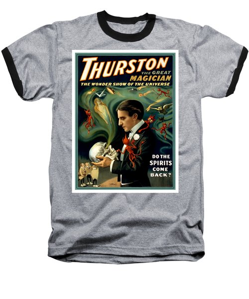 Do The Spirits Come Back Baseball T-Shirt by Terry Reynoldson
