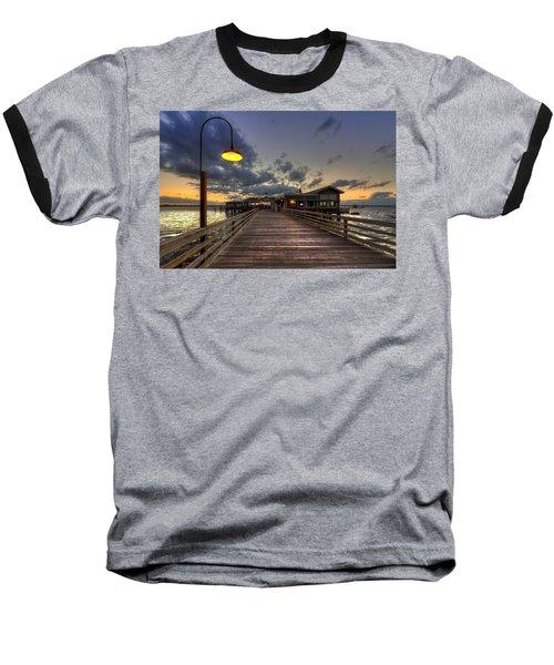Dock Lights At Jekyll Island Baseball T-Shirt