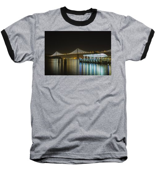 Docks And Bay Lights Baseball T-Shirt