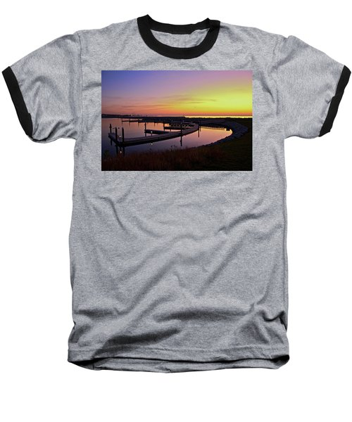 Baseball T-Shirt featuring the photograph Docks At Sunrise by Jonah  Anderson