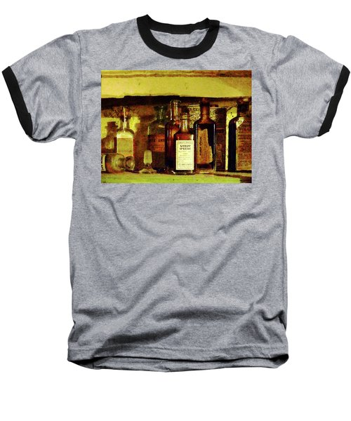 Baseball T-Shirt featuring the photograph Doctor - Syrup Of Ipecac by Susan Savad