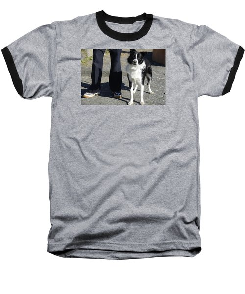 Baseball T-Shirt featuring the photograph Dog And True Friendship 9 by Teo SITCHET-KANDA