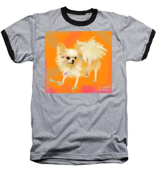 Dog Chihuahua Orange Baseball T-Shirt