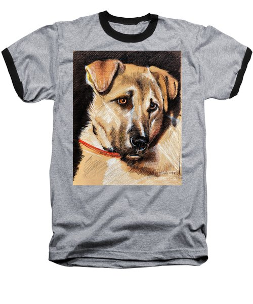 Dog Portrait Drawing Baseball T-Shirt