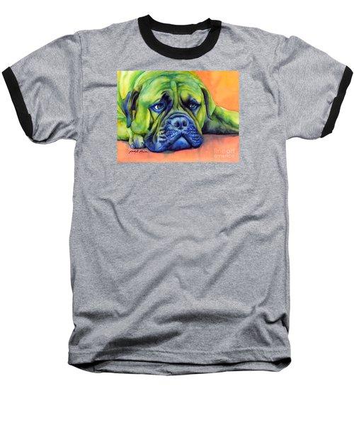 Dog Tired Baseball T-Shirt by Hailey E Herrera