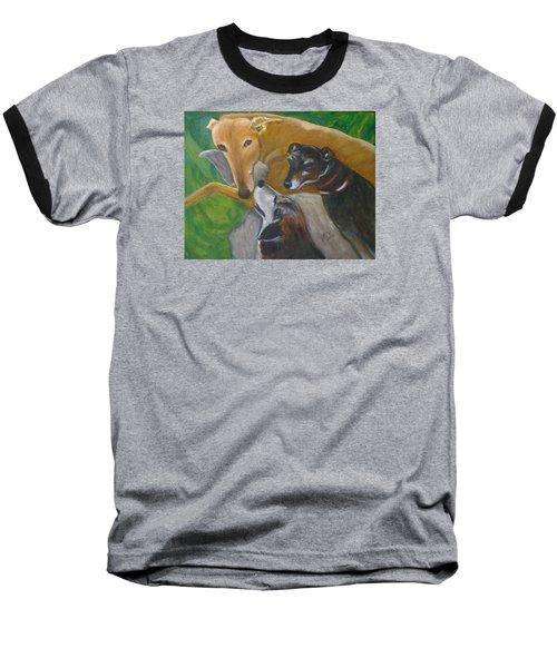 Dogs Resting Baseball T-Shirt