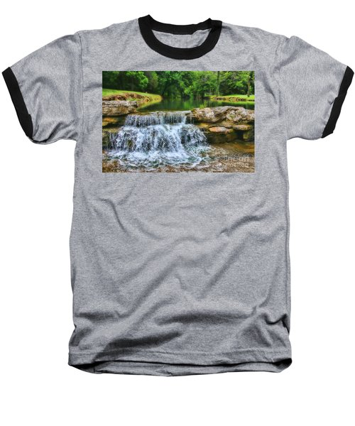 Dogwood Canyon Falls Baseball T-Shirt