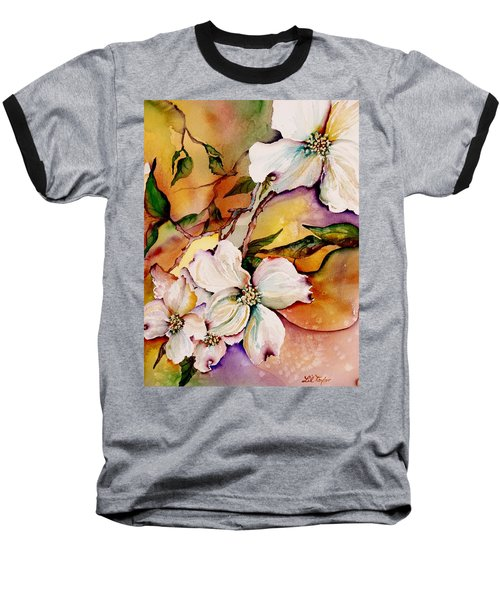 Dogwood In Spring Colors Baseball T-Shirt by Lil Taylor