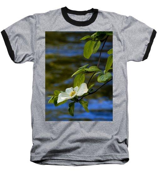 Dogwood On The Merced Baseball T-Shirt by Bill Gallagher