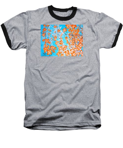 Dogwoods Baseball T-Shirt by Donna Dixon