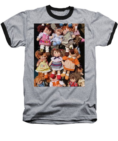 Baseball T-Shirt featuring the photograph Dolls by Marcia Socolik